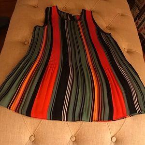sleeveless multi colored blouse